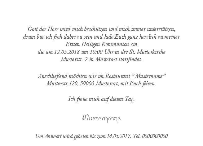Kommunion Einladungskarte 10