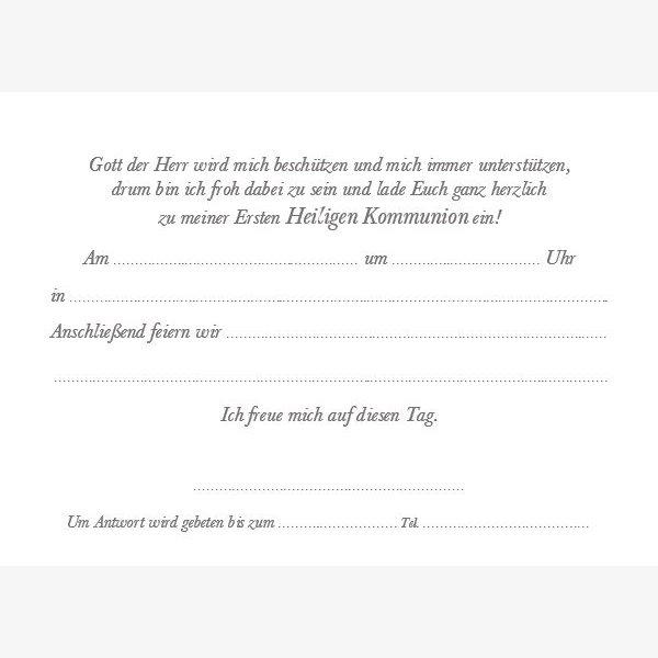 Kommunion Einladungskarte 25