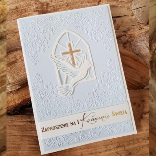 Polnische Einladungskarte-Kommunion 17