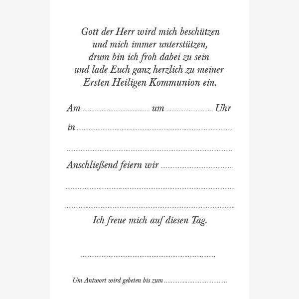 Kommunion Einladungskarte 18w