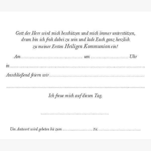 Kommunion Einladungskarte 19