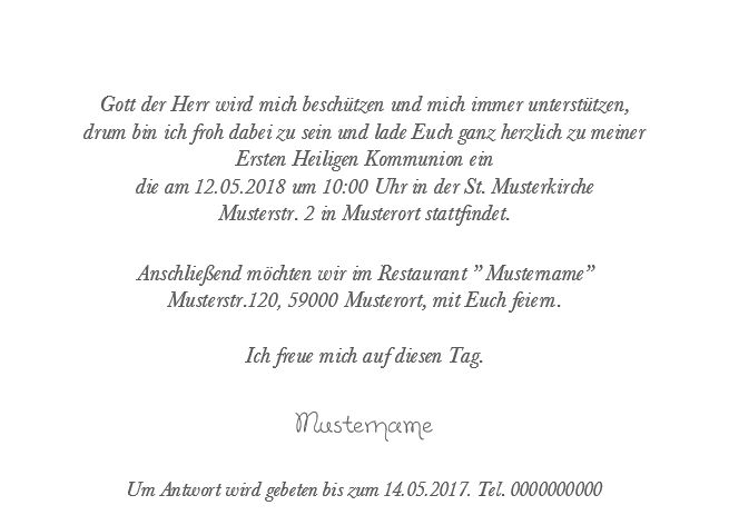 Kommunion Einladungskarte 13