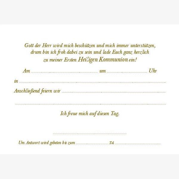 Kommunion Einladungskarte 12