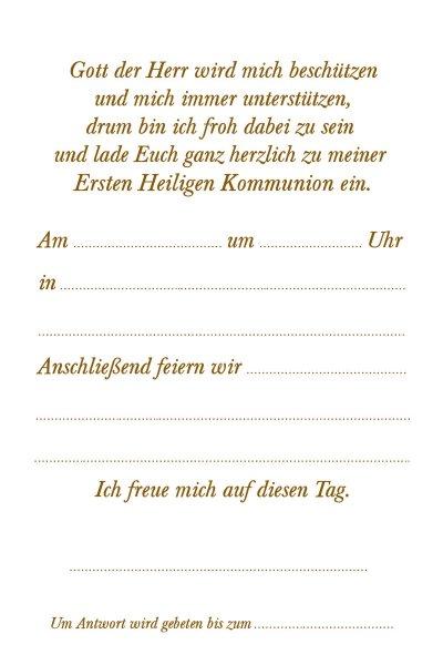 Kommunion Einladungskarte 38e