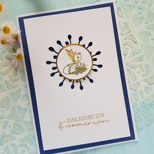 Kommunion Einladungskarte 35w