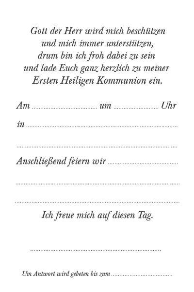 Kommunion Einladungskarte 36w