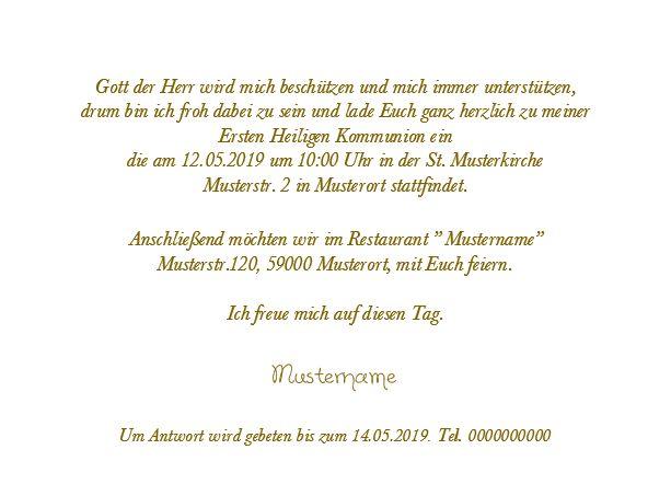 Kommunion Einladungskarte 03w