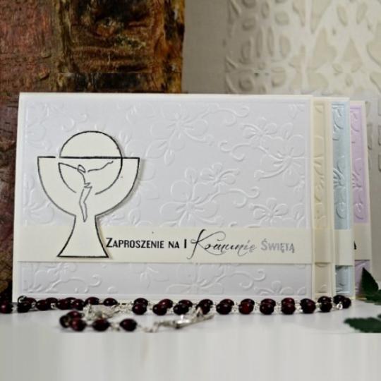 Polnische Kommunion Einladungskarte 03e