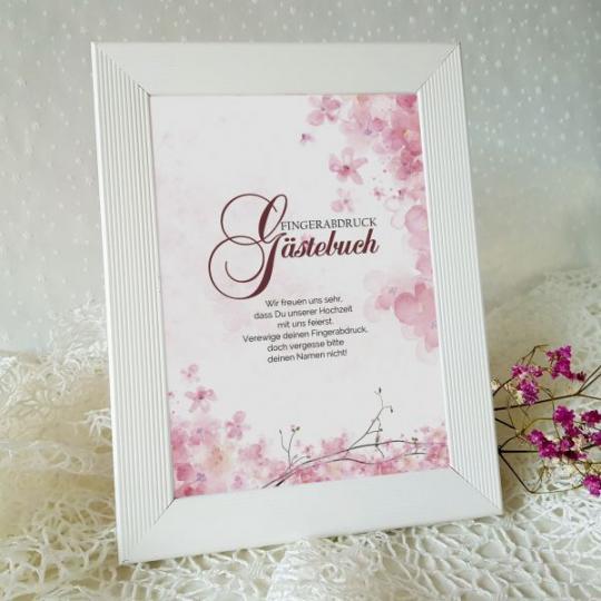 """Aufsteller - Gästebuch  """"Rose"""" 01"""