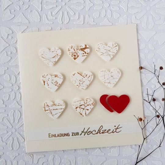 Hochzeit Einladungskarte Handgemacht 002