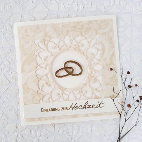 Hochzeit Einladungskarte Handgemacht 004