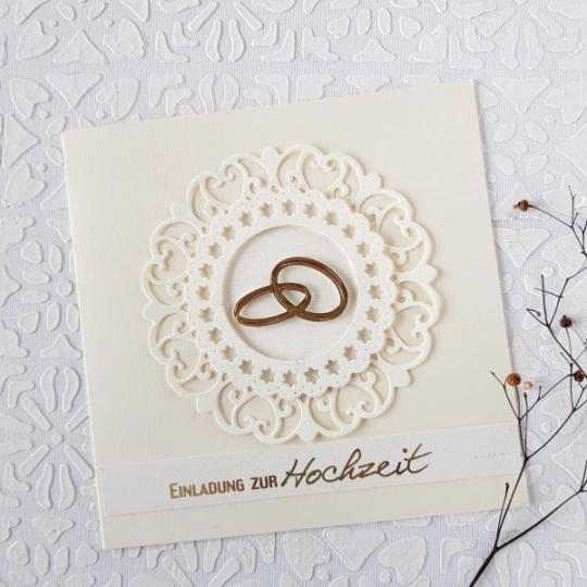 Hochzeit Einladungskarte Handgemacht 005