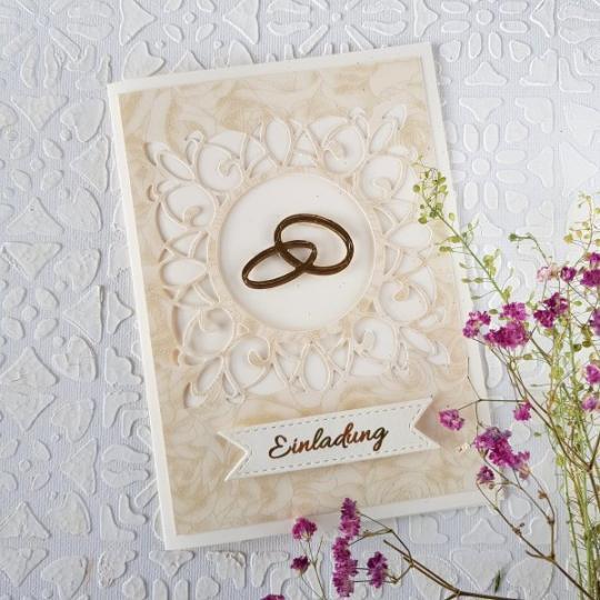 Hochzeit Einladungskarte Handgemacht 006