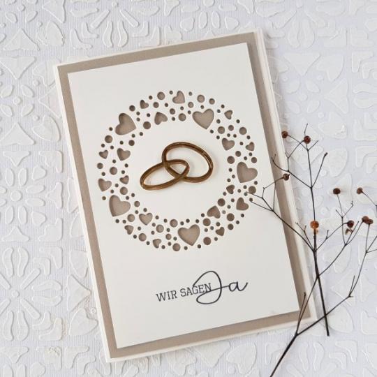 Hochzeit Einladungskarte Handgemacht 007