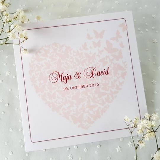 """Hochzeit Einladungskarte """"Maja"""" 04"""
