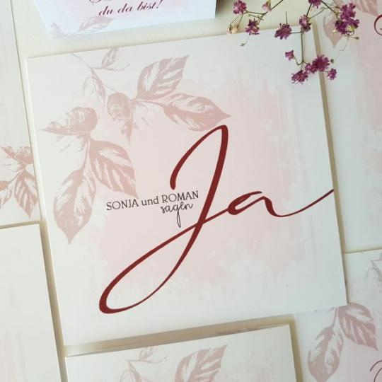 """Hochzeit Einladungskarte """"Sonja"""" 02"""