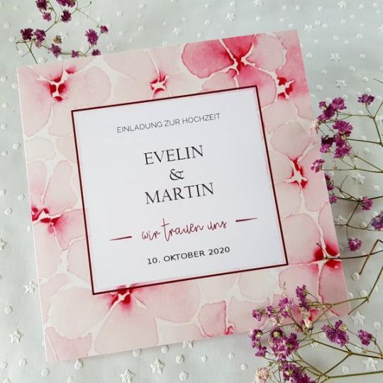"""Hochzeit Einladungskarte """"Evelin"""" 03"""