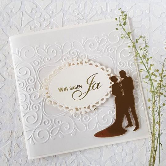 Hochzeit Einladungskarte Handgemacht 001