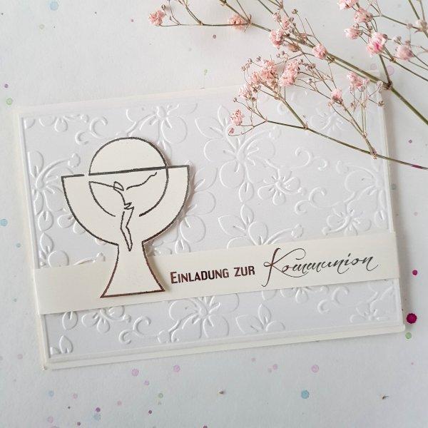 Kommunion Einladungskarte 03e