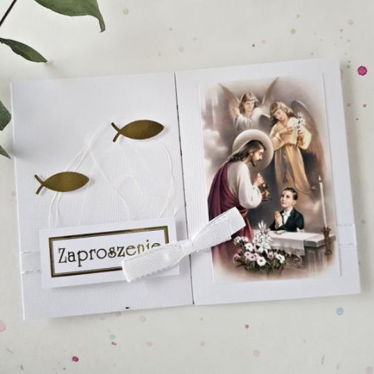 Polnische Einladungskarte-Kommunion 12