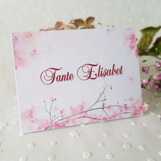 "Tischkarte ""Rose"" 01"