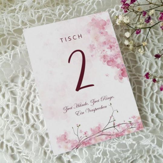 """Tischnummer """"Rose"""" 01"""