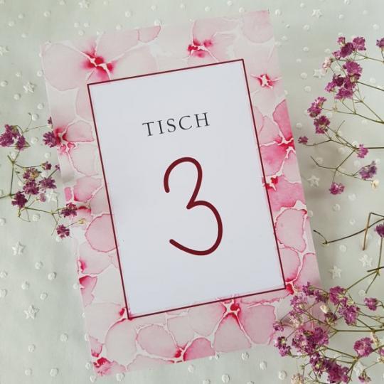 """Tischnummer """"Evelin"""" 03"""